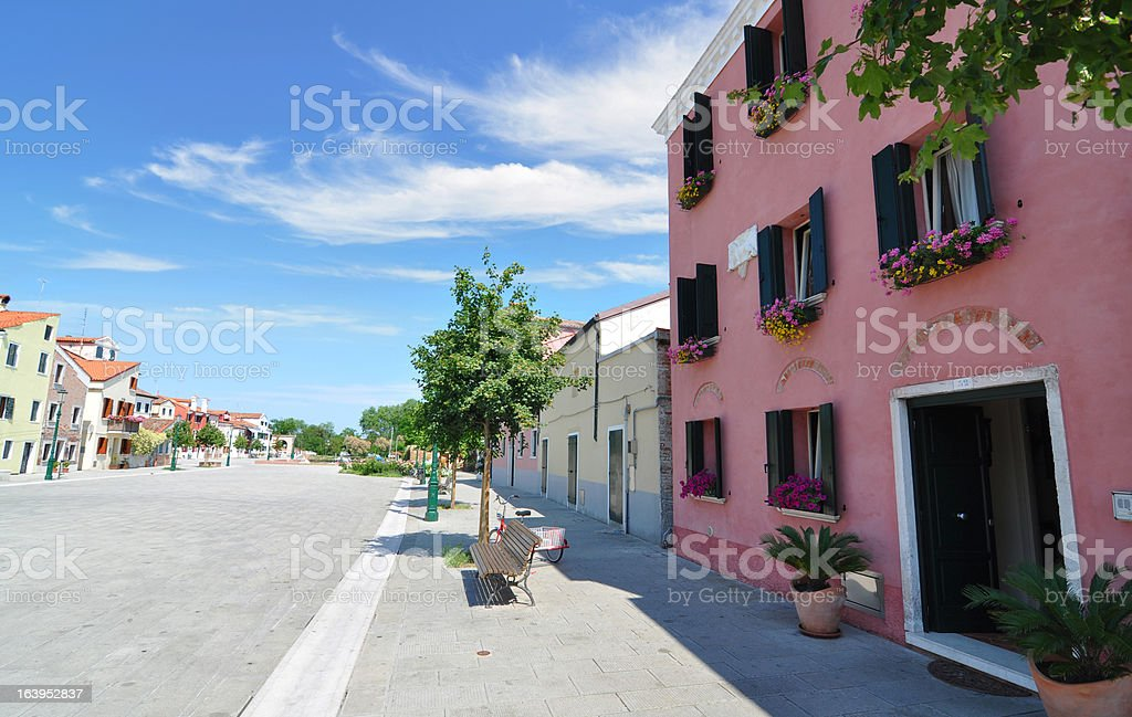 Luxurious country houses in an Italian community royalty-free stock photo