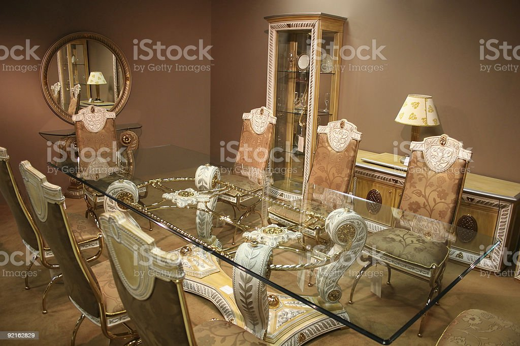 luxurious dining room 2 royalty-free stock photo