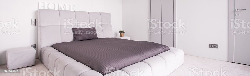 Luxurious double bed stock photo