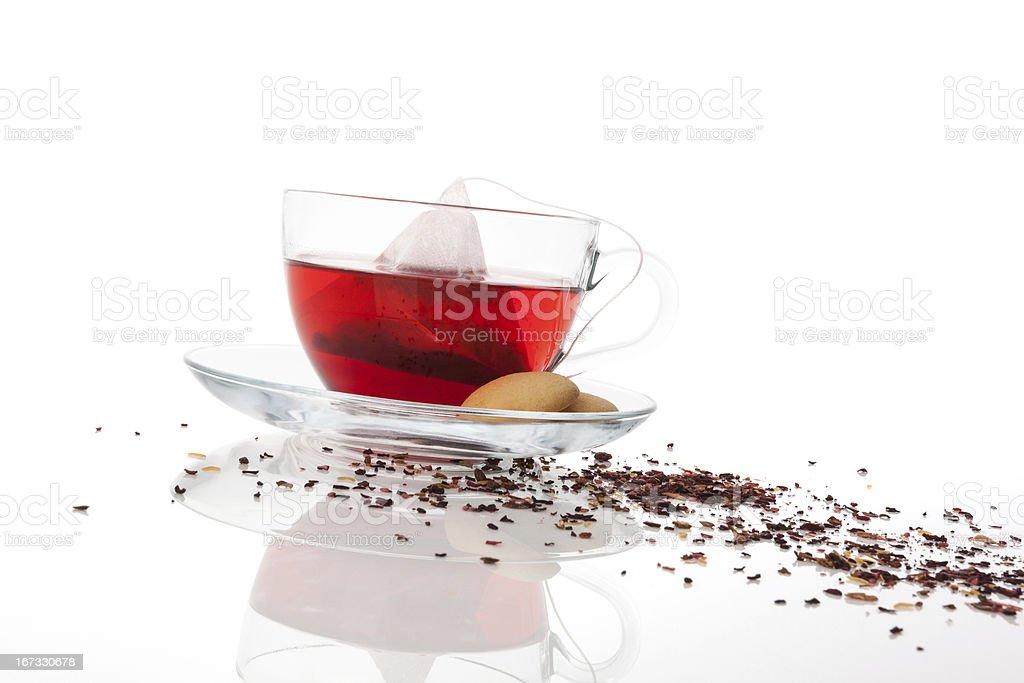 Luxurious fruit tea. royalty-free stock photo