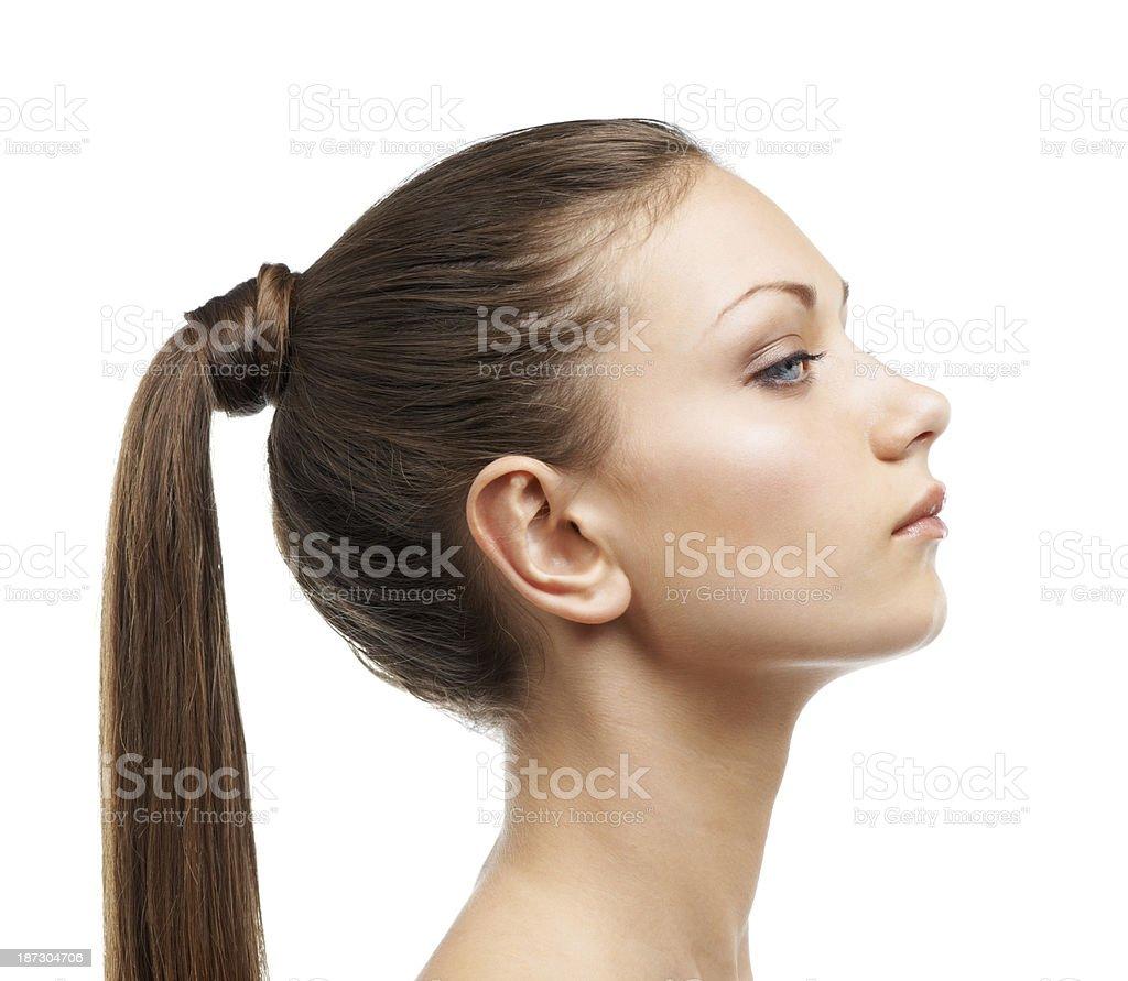 Luxurious hair royalty-free stock photo