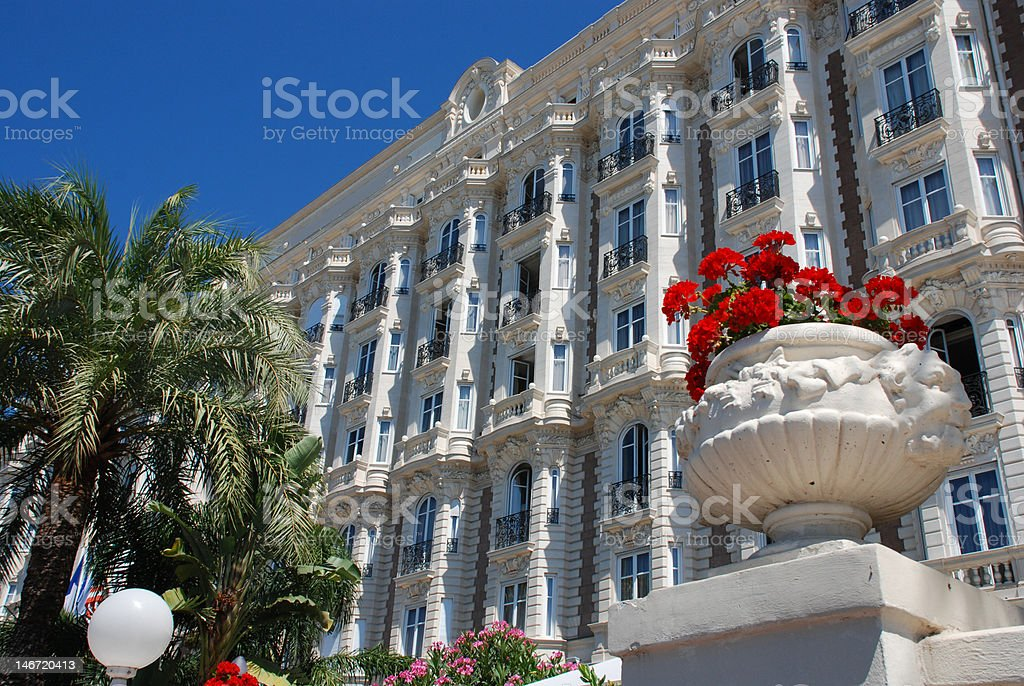 luxurious hotel in Cannes royalty-free stock photo
