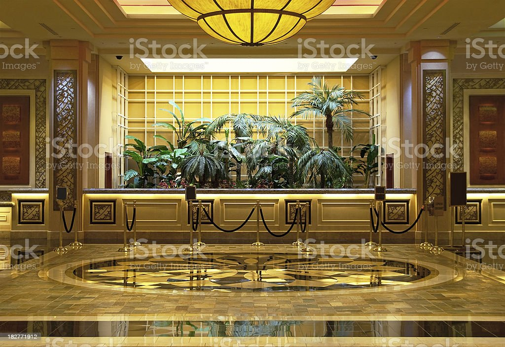 Luxurious Hotel Lobby royalty-free stock photo