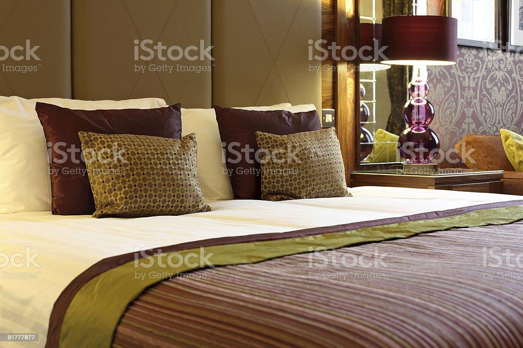 Luxurious hotel room stock photo