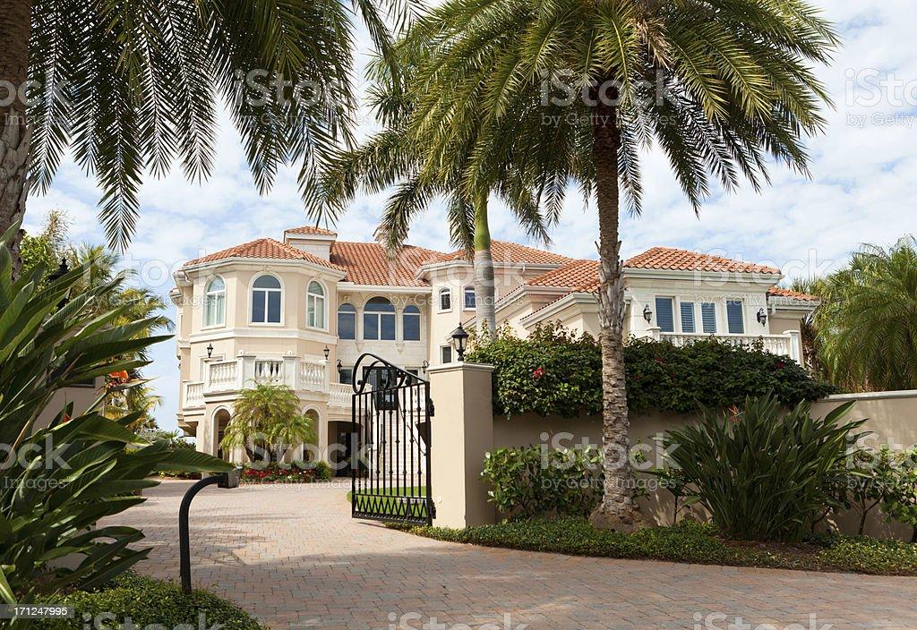 Luxurious House in Florida stock photo