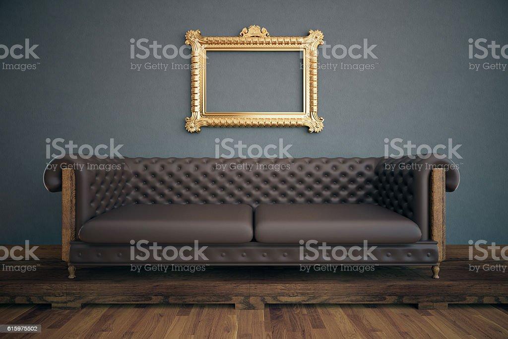 Luxurious interior with see-through frame stock photo