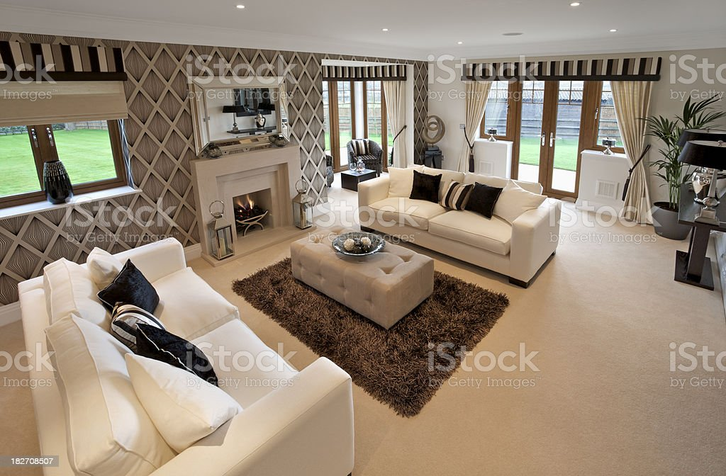 luxurious living room stock photo