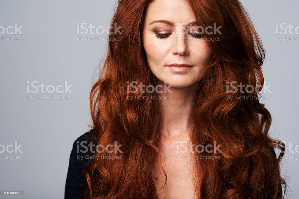 Luxurious locks stock photo