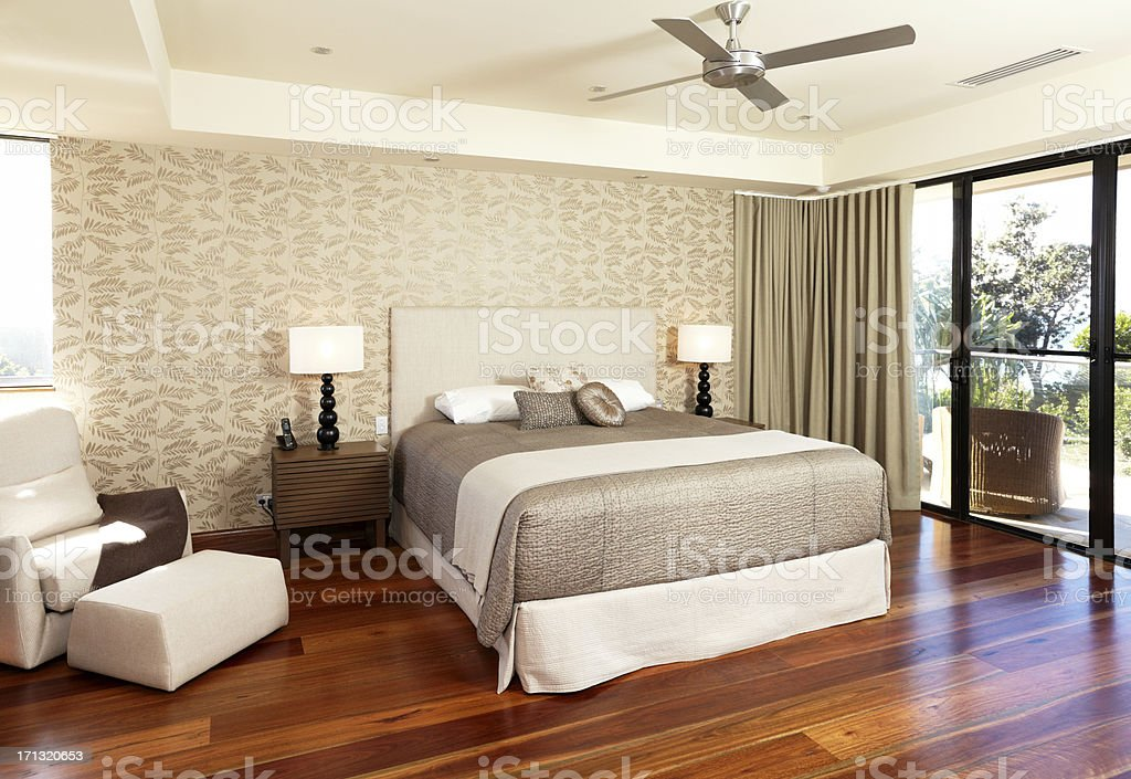 Luxurious Master Bedroom royalty-free stock photo