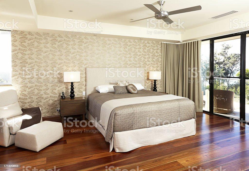 Luxurious Master Bedroom stock photo