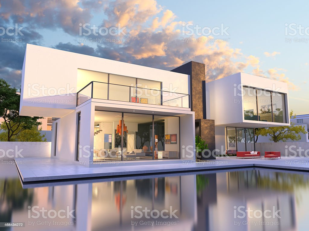 Luxurious original mansion stock photo