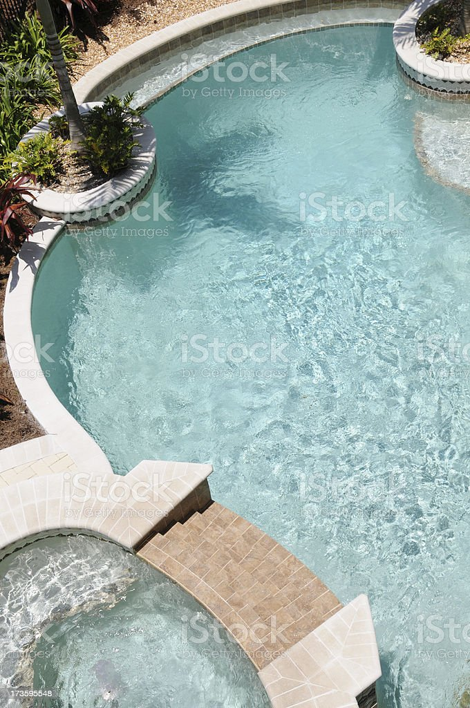 luxurious pool royalty-free stock photo