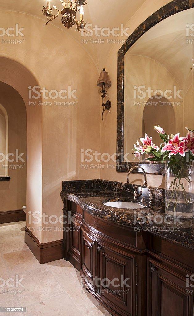 Luxurious Powder Room royalty-free stock photo