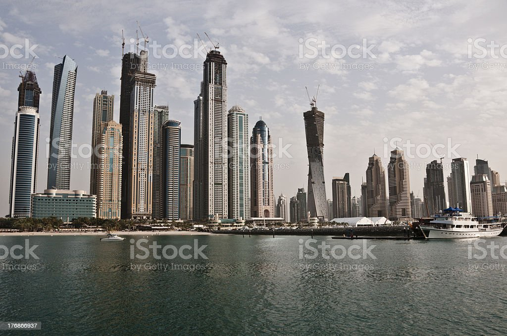 Luxurious residential area along the yacht bay royalty-free stock photo