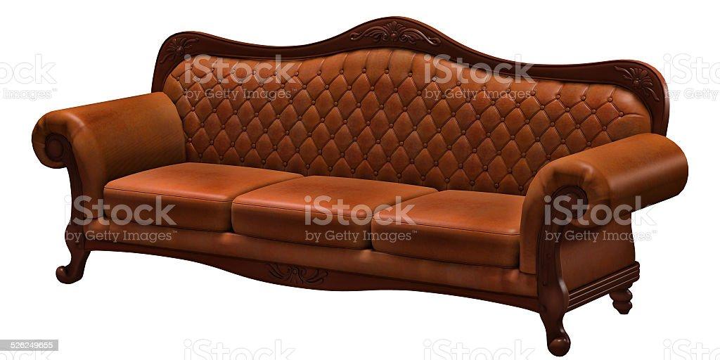 luxurious sofa, isolated on the white background stock photo