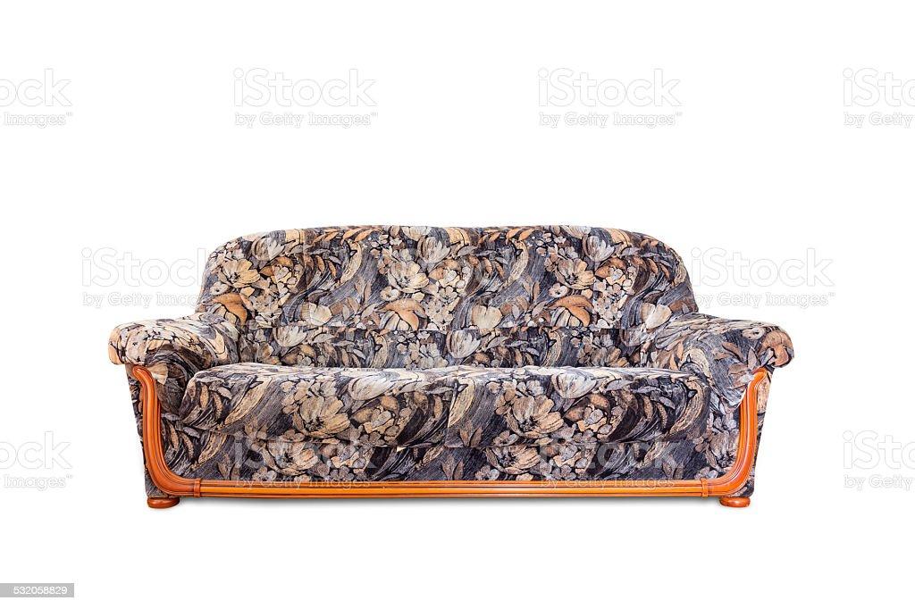 Luxurious sofa isolated on white background stock photo