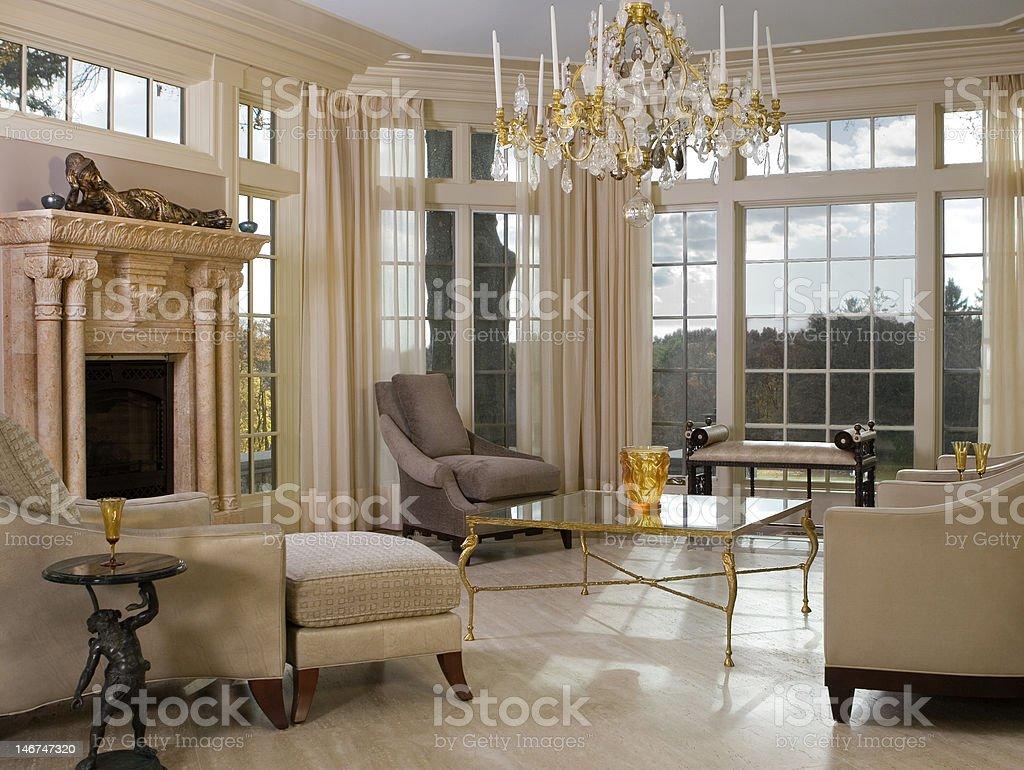 Luxurious Solarium / Sun Room stock photo