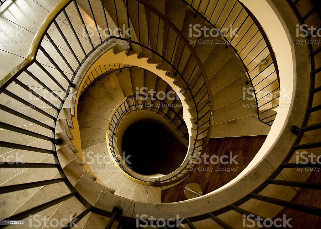 Luxurious Spiral Staircase stock photo