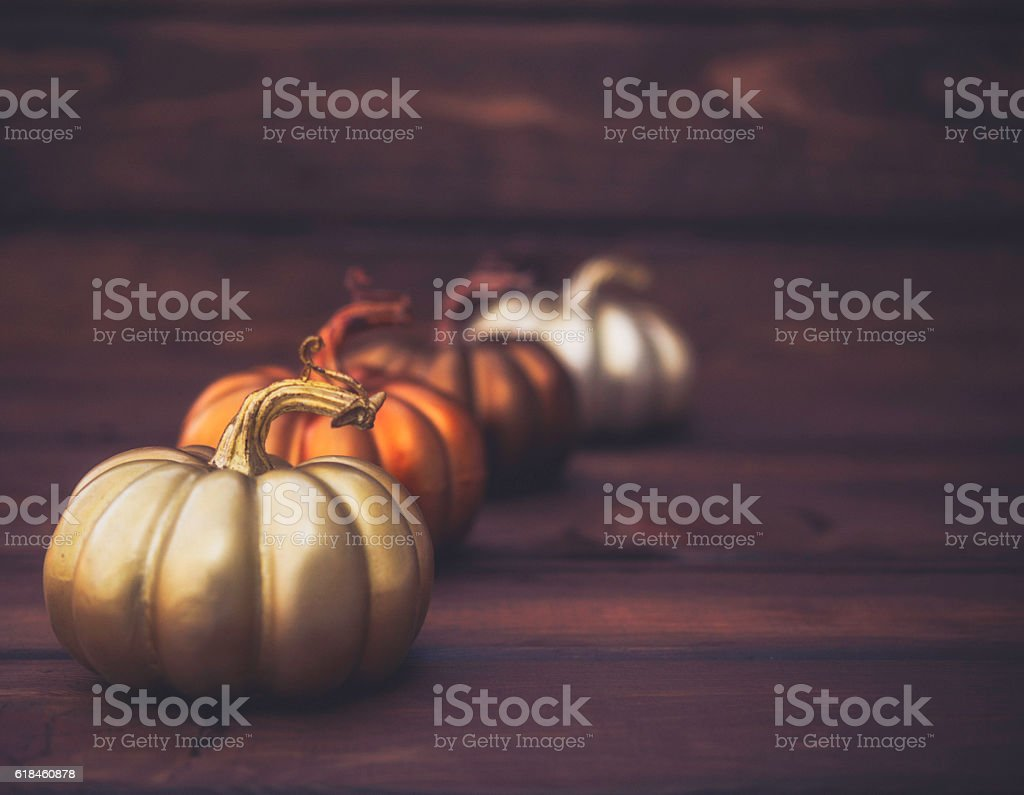 Luxurious still life arrangement for Thanksgiving or Halloween. Fall holidays stock photo