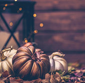Luxurious still life arrangement for Thanksgiving with message. Give Thanks
