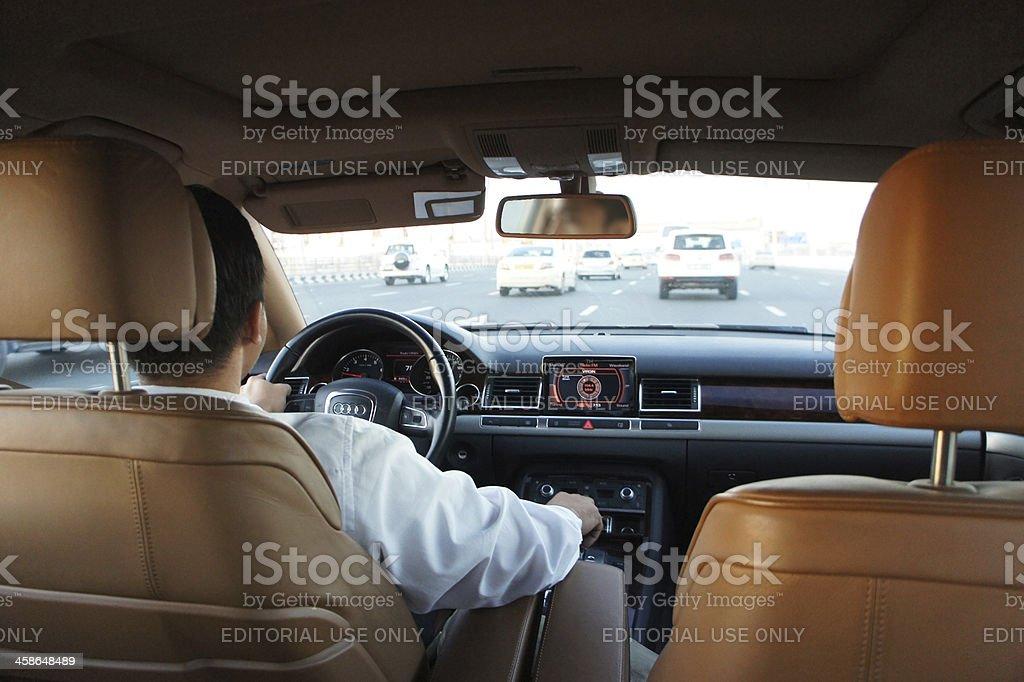 luxurious taxi dubai stock photo