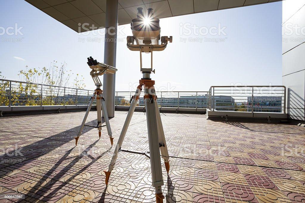 luxurious telescope stock photo