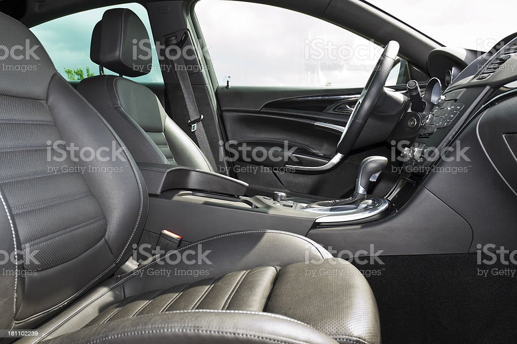 Luxurious vehicle interior stock photo