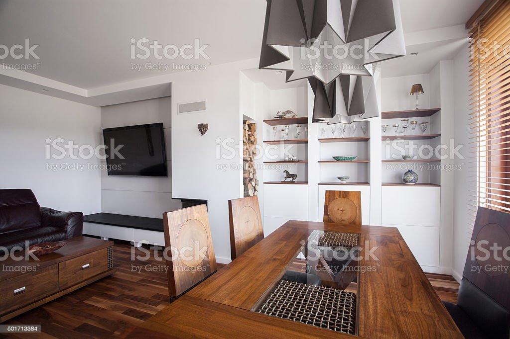 Luxurious villa interior stock photo