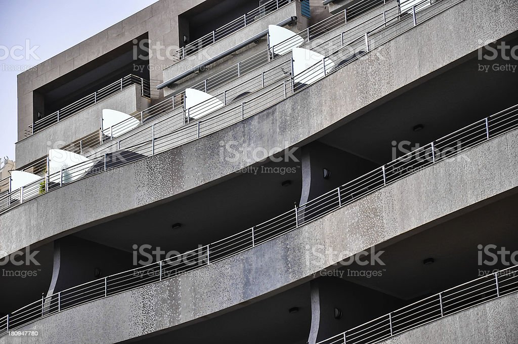 Luxurious Waterfront Apartment Building royalty-free stock photo