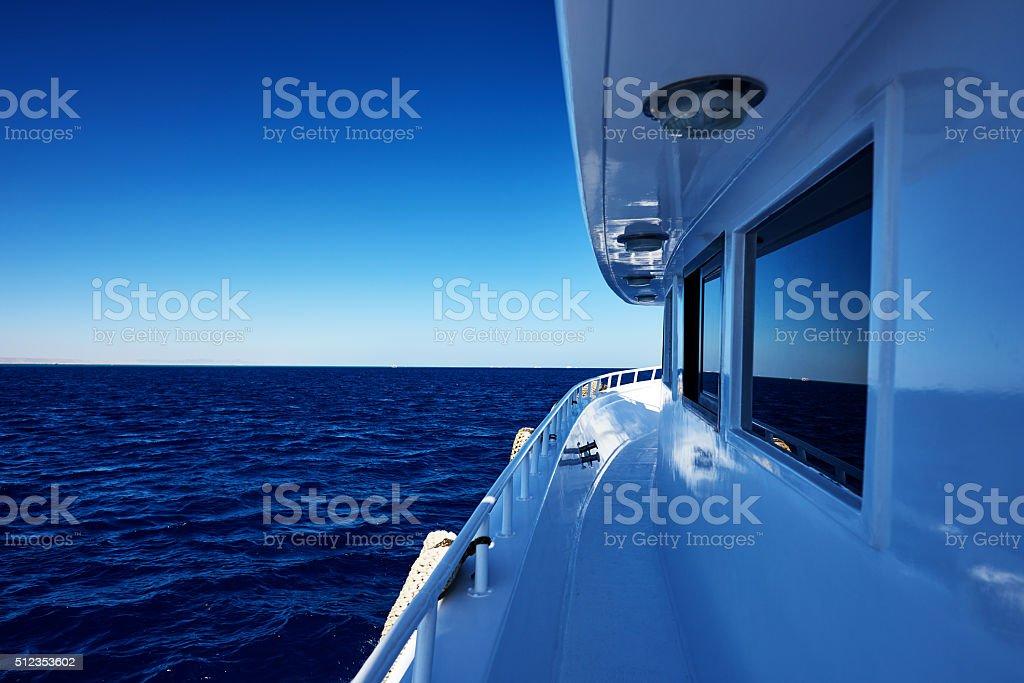 luxurious yacht stock photo