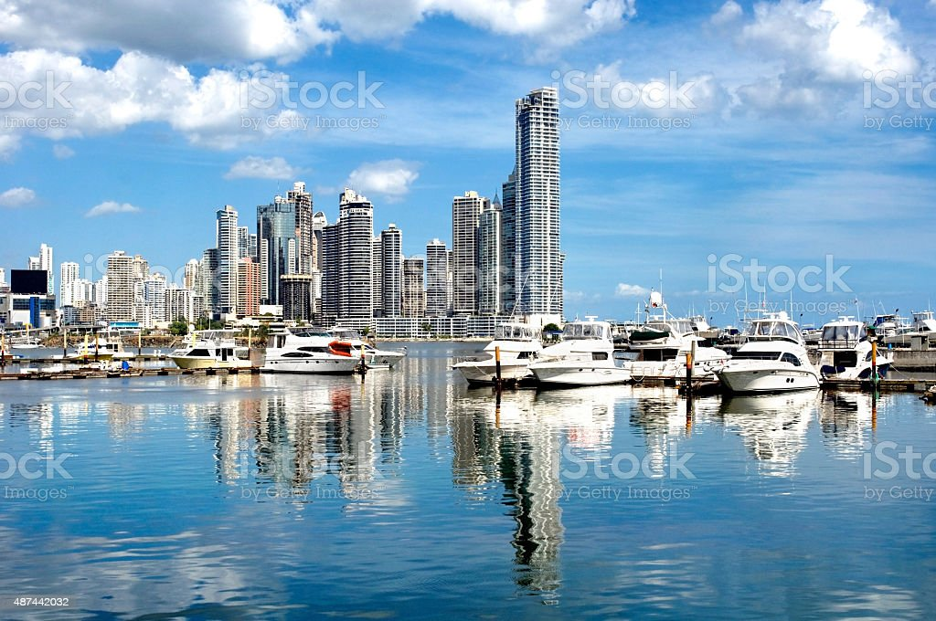 Luxurious yachts stock photo