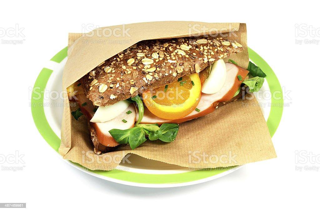 豪華なサンドイッチ、チキン、マンゴーます。 ロイヤリティフリーストックフォト