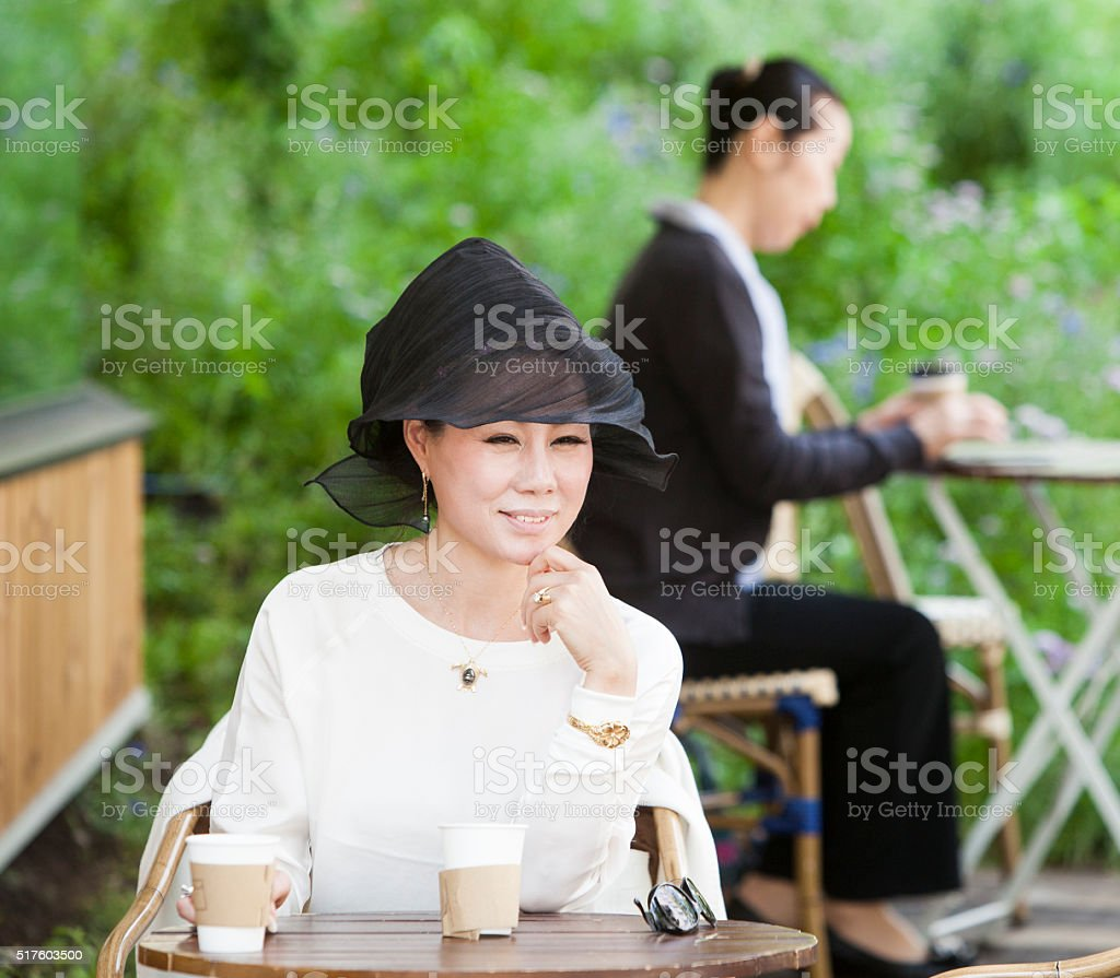 Luxury Afternoon Of The Asian Elderly stock photo