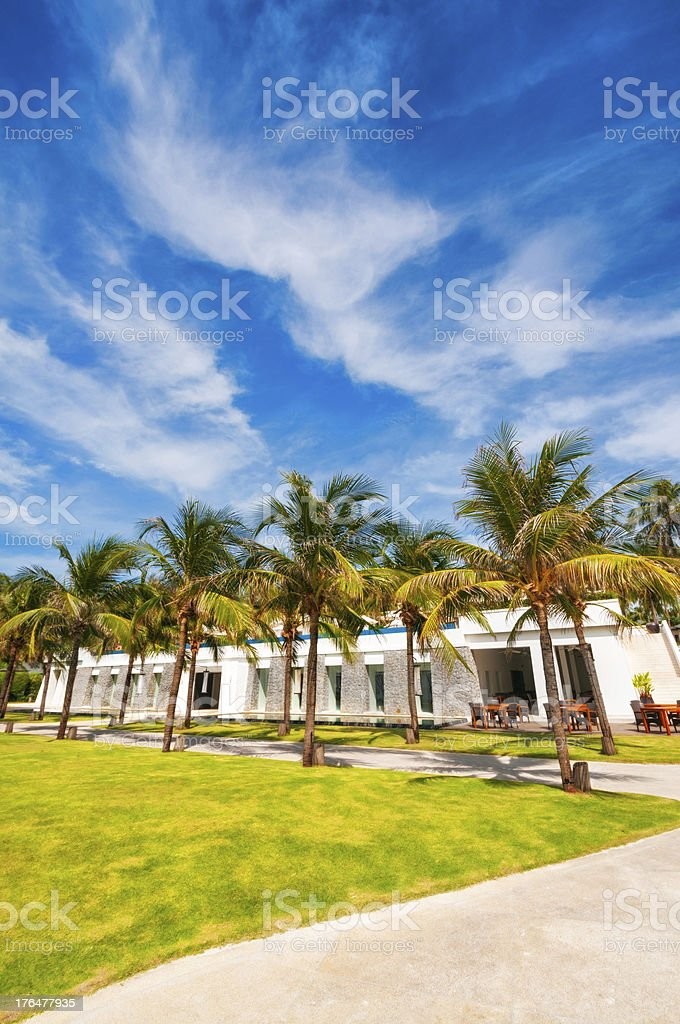 Luxury and Exotic Hotel In The Tropics royalty-free stock photo