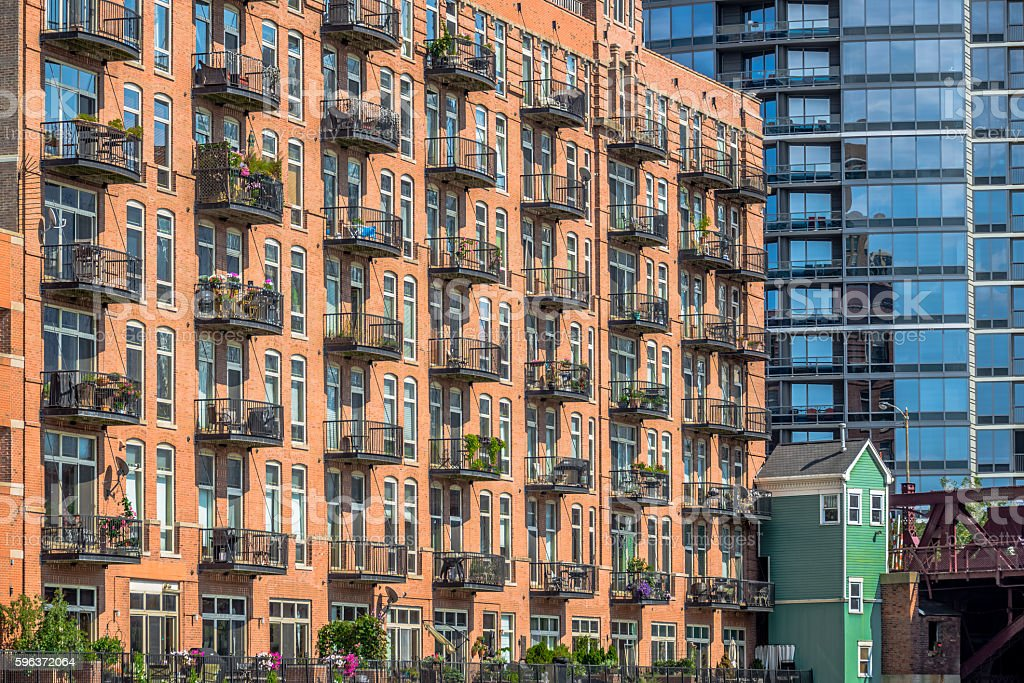 Luxury Apartment Buildings stock photo