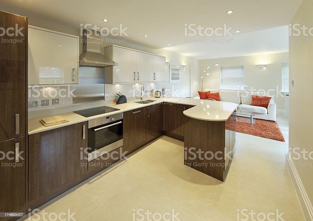 luxury apartment kitchen royalty-free stock photo