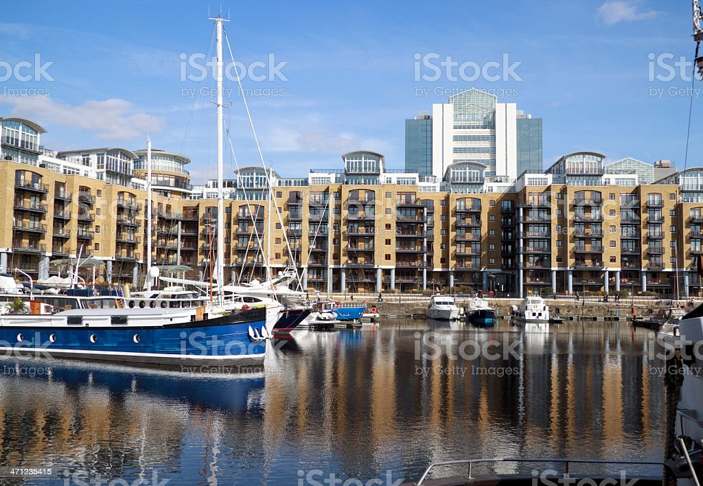 Luxury apartments in marina development royalty-free stock photo