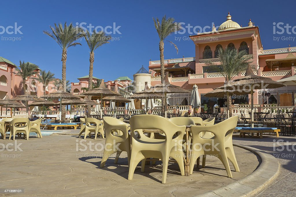 Luxury Arabian resort stock photo