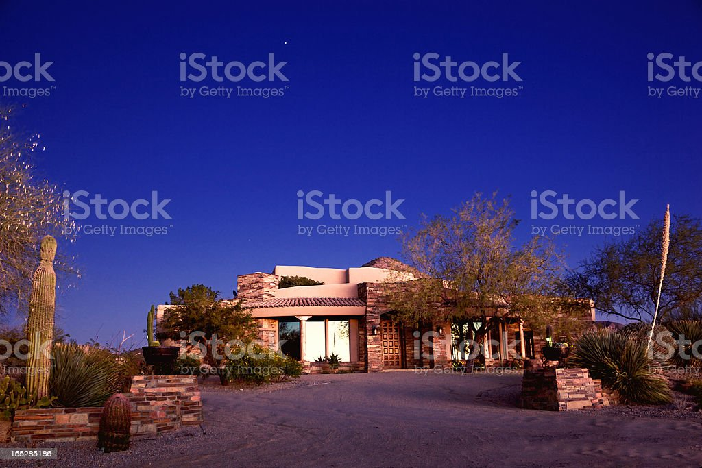 Luxury Arizona Southwest Home in Desert of North Scottsdale royalty-free stock photo