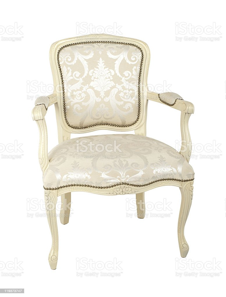 luxury armchair isolated on white royalty-free stock photo
