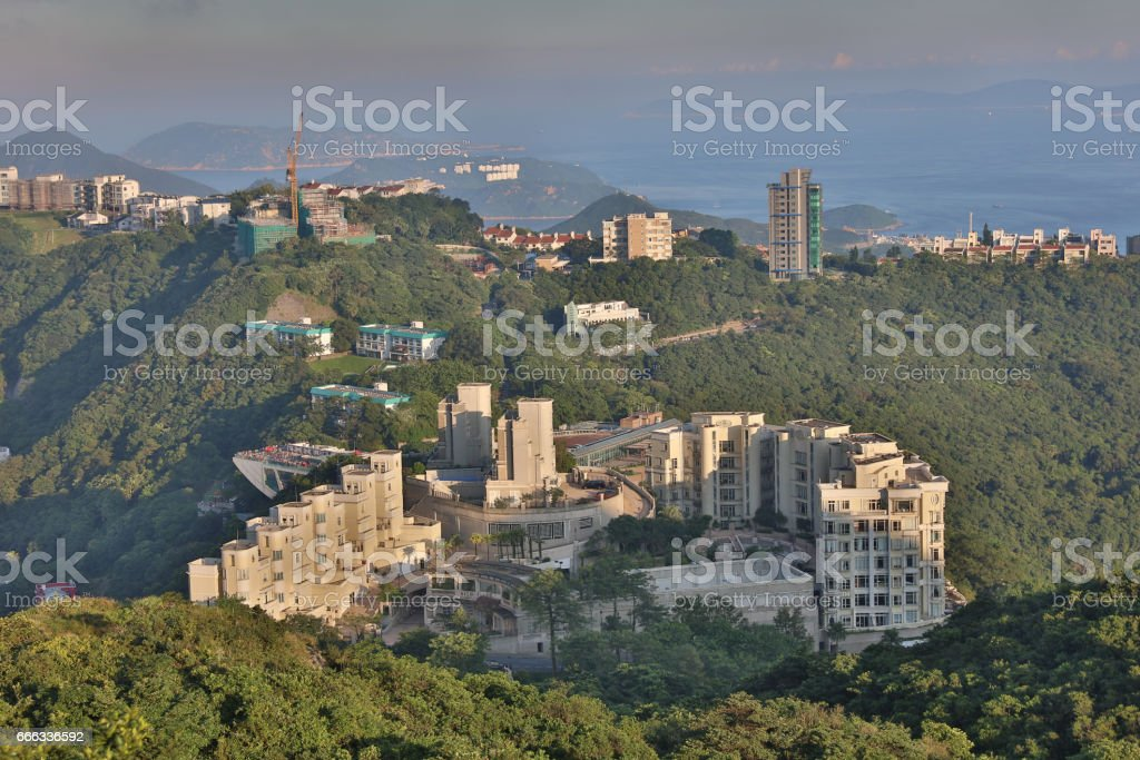 Luxury at the peak of hong kong stock photo