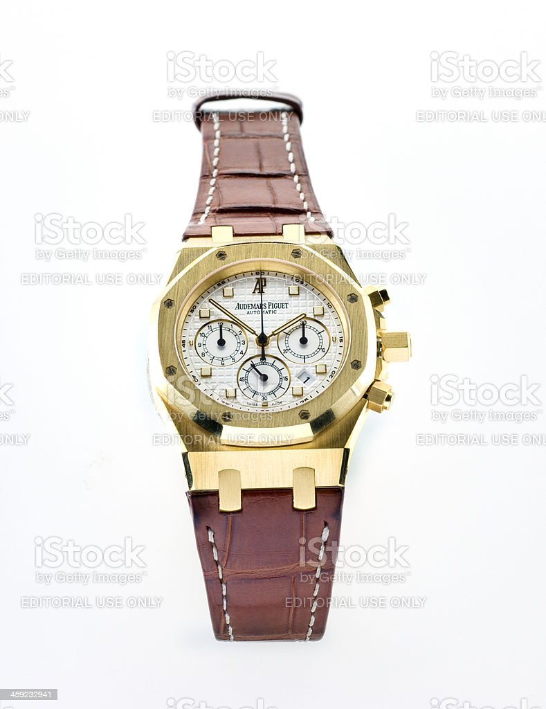 luxury Audemars Piquet Royal Oak Chronograph wristwatch stock photo