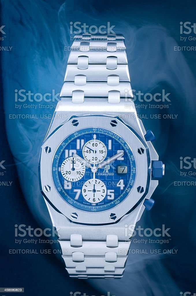 luxury Audemars Piquet Royal Oak Offshore Chronograph wristwatch stock photo