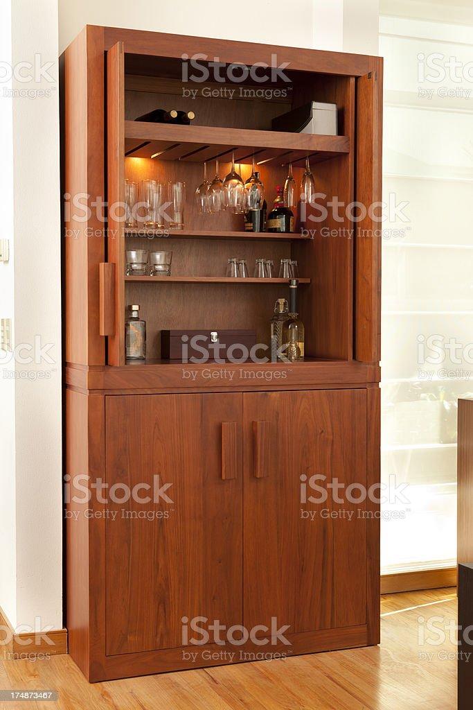 Luxury Bar Cabinet royalty-free stock photo