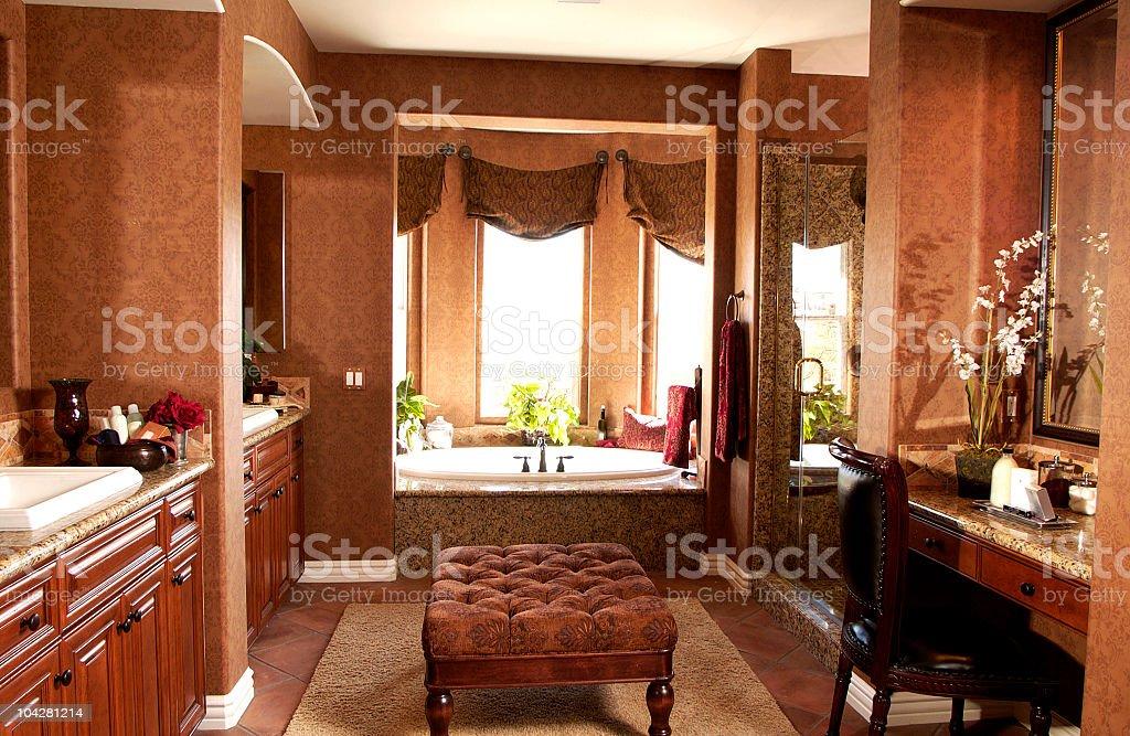 Luxury Bath and Vanity royalty-free stock photo