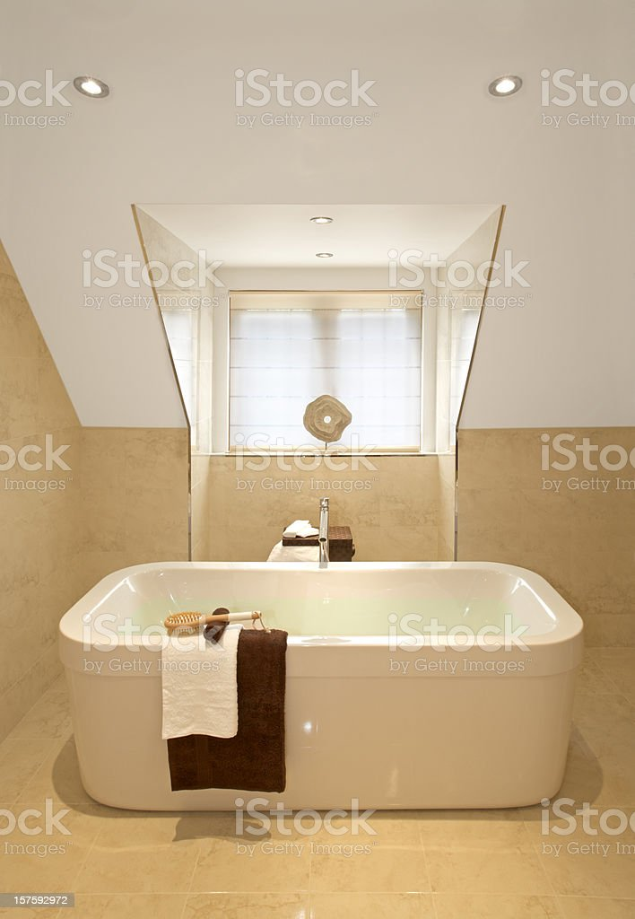 luxury bath stock photo