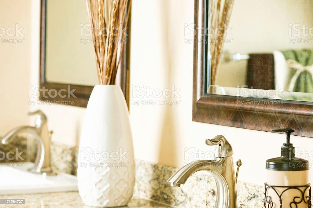 Luxury Bathroom Detail Vanity Area royalty-free stock photo