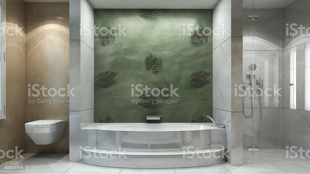Luxury bathroom interior stock photo
