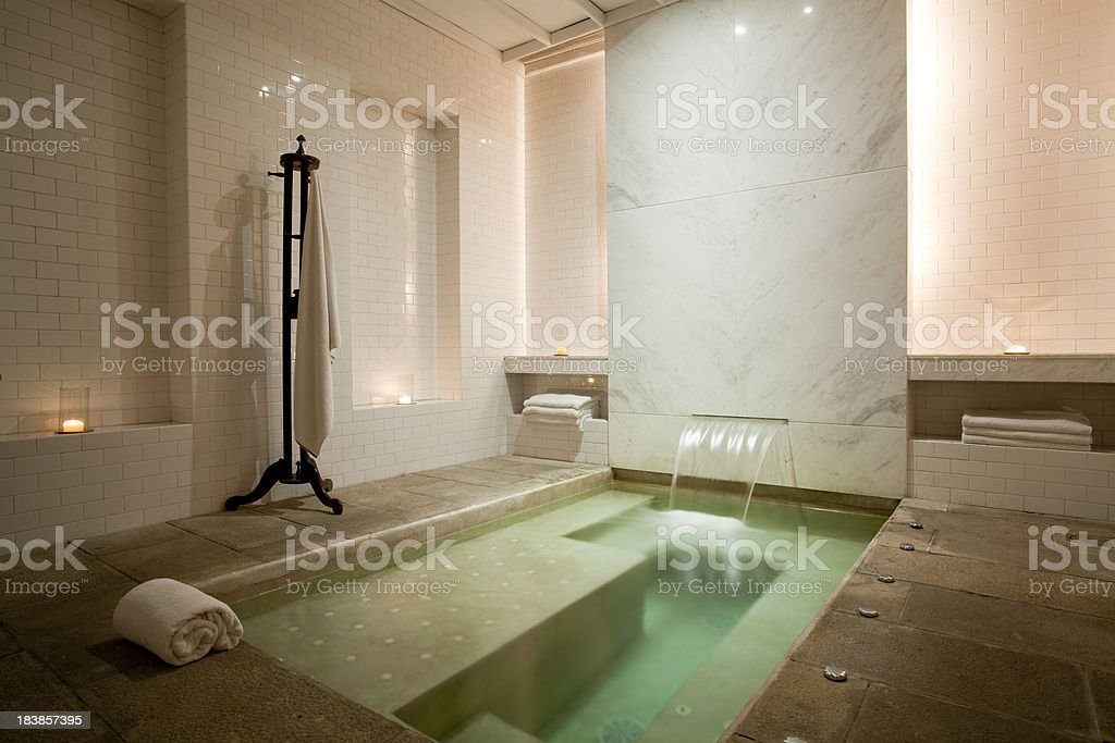 luxury bathroom spa stock photo
