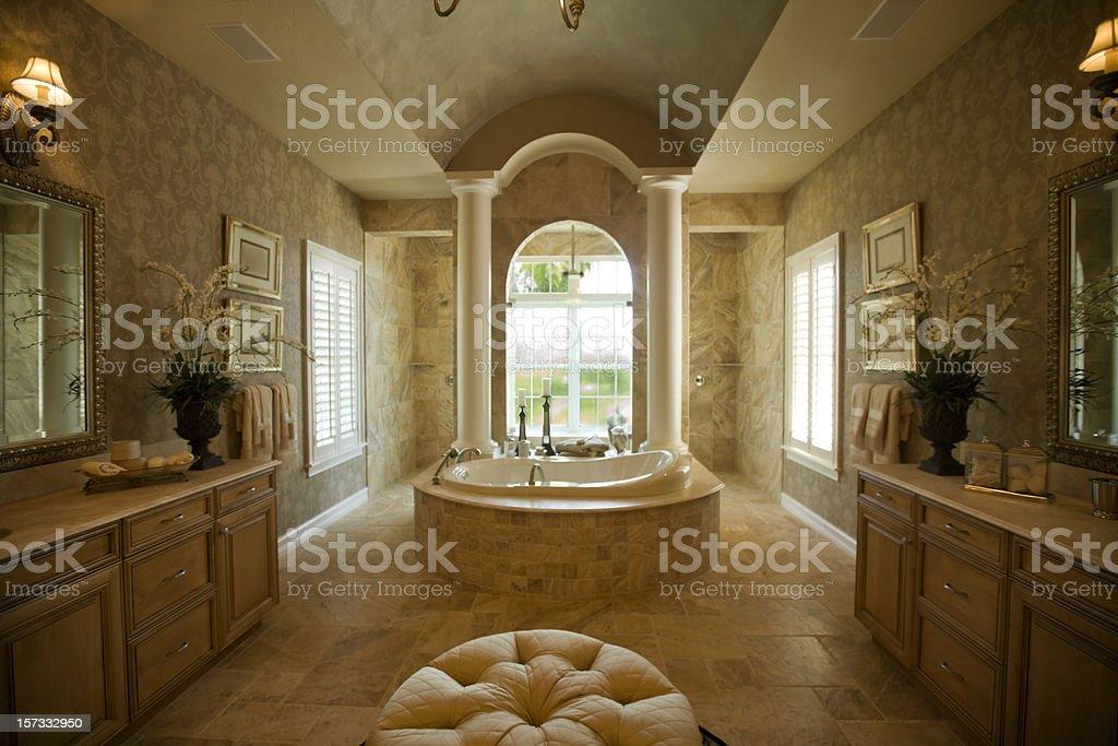 Luxury bathroom with spa tub royalty-free stock photo